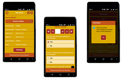 Mobile application for Field Agents - SourceTrace Systems